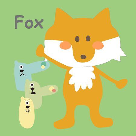 Alphabet Card Fox