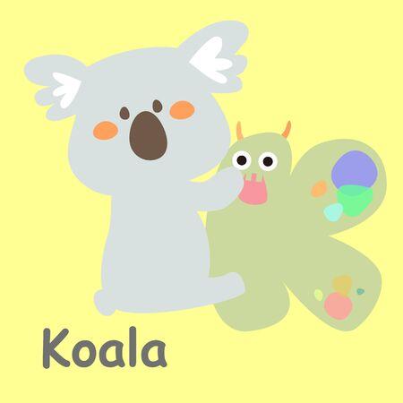 Alphabet Card Koala