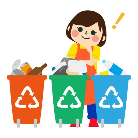 The Girl Who Does Housework with recycle bin