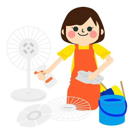 A girl who does housework.