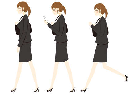 Illustration of a woman wearing business casual clothes.
