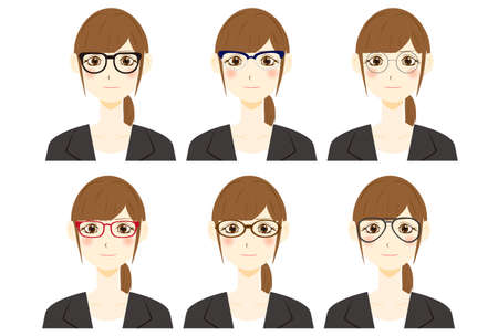 Woman with glasses. vector illustration