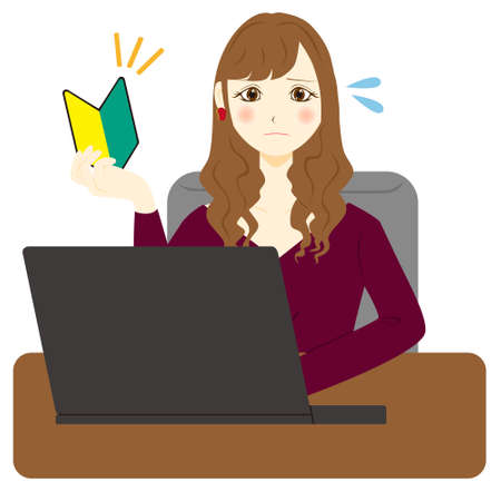 Businesswoman using a personal computer.beginner