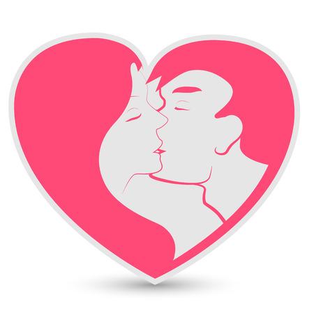 heterosexual: pareja heterosexual Vectores