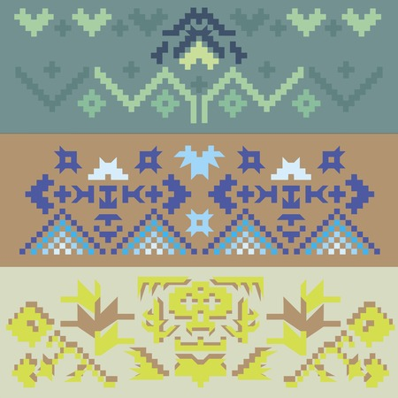 kilim: ethnic pattern Illustration