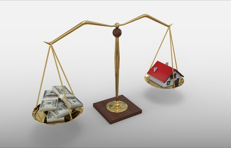 House Money Scale 免版税图像