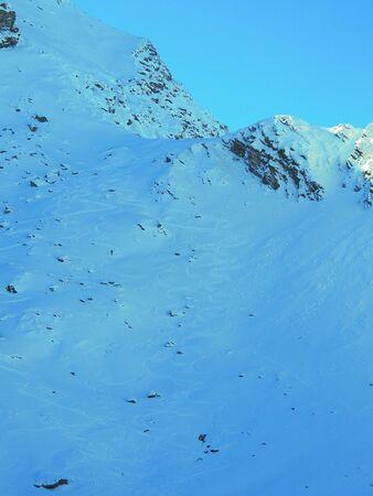 Wild ski slope in Fagaras National Park,Romania