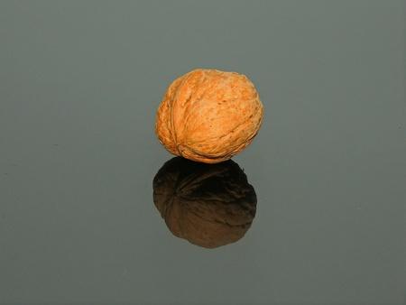 isolated: Isolated nut on black background Stock Photo