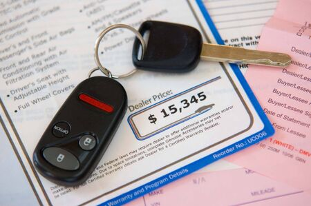 low prices: Automobile purchsase Stock Photo