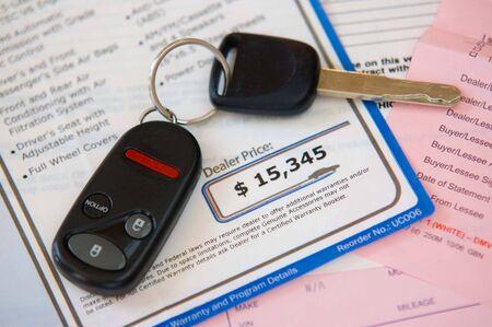 purchase: Automobile purchsase Stock Photo
