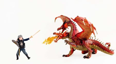 ドラゴン対男の子 写真素材 - 4831005