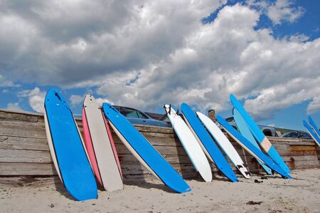 Surfboard wall Stock Photo - 5231045