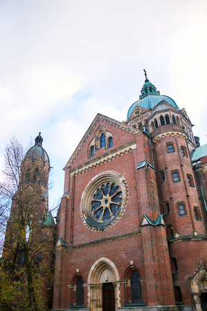 St Lukes Church, the largest Protestant church in Munich, Germany Stock Photo