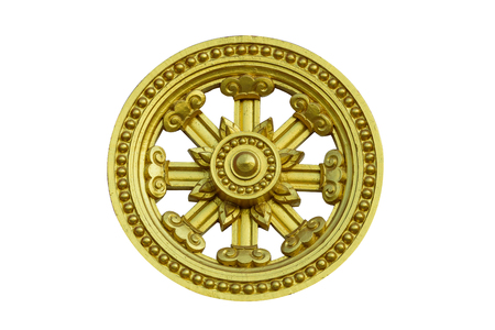 enlightenment: Dharmachakra represents the cycle of birth and death cycle. Or Circle of the birth, enlightenment and death of Buddha.