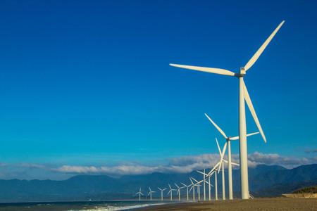 Wind Farm at Bangui, Ilocos Norte, Philippines Imagens