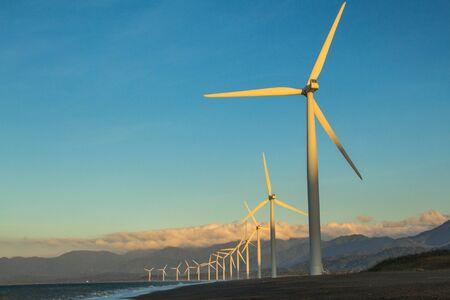 Wind Farm at Bangui, Ilocos Norte, Philippines Stockfoto