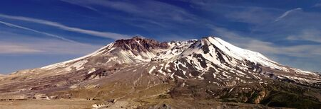 active volcano: Beautiful panoramic image of the beautiful Mount St. Helens active volcano  Stock Photo
