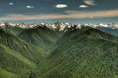 olympus: Olympic Mountain range and valleys from Hurricane Ridge viewpoint