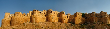 Beautiful panorama of the Golden Fort of Jaisalmer, India photo