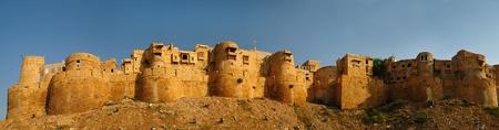 Beautiful panorama of the Golden Fort of Jaisalmer, India