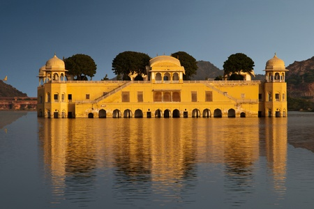 The Palace on water known as Jalmahal in Jaipur, India Editorial