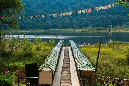 The Khecheopalri sacred lake of Buddhism in Sikkim photo