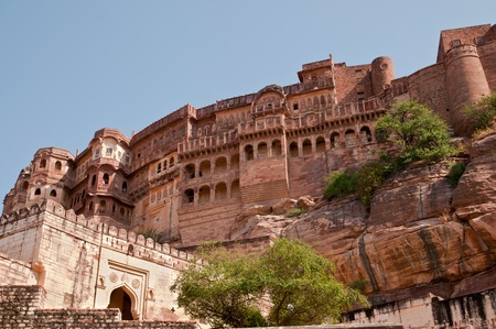 Palace in the massive fortress of Mehrangarh in the city of Jodhpur, Rajasthan