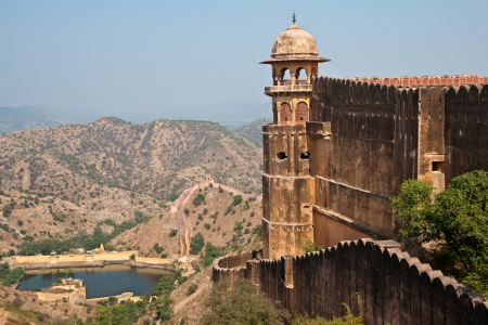 The famous Jaigarh fort in Jaipur and the surrounding vista