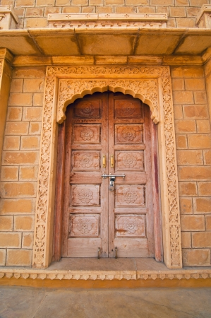 Royal door in a Patwon ki Haveli palace in Rajasthan