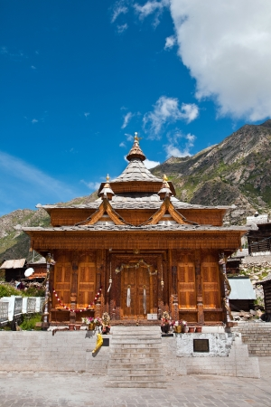indo: The grand temple of Chitkul, the last village on the Indo tibetan border Stock Photo