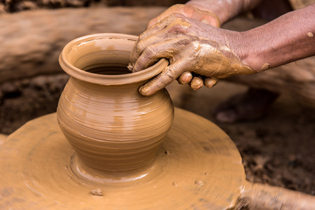 Closeup image of a potter Stock Photo - 36123512