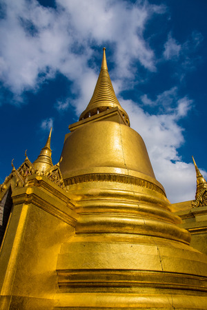 bell shaped: Giant bell shaped dome of the Golden temple inside Grand Palace in Bangkok, Thailand Stock Photo