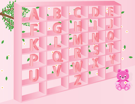 s e o: English alphabets for kids in vector format.