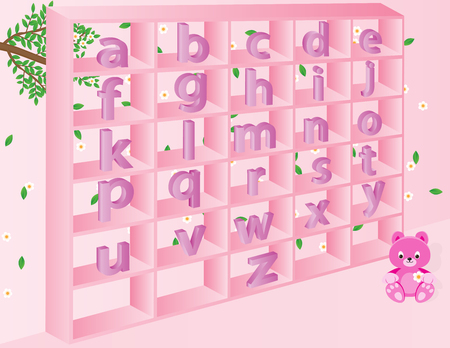 s e o: English alphabets for kids, in vector format global colors have been used.