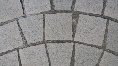 semicircle: Floor tiles made of a semicircle. There are about 2 mm gap between the tile floor semicircular look beautiful. There are several types of tile shapes.