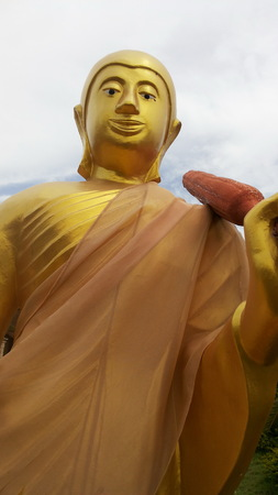 golden: Golden Buddha Statue Stock Photo