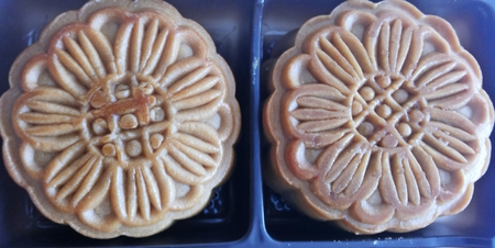 belive: Moon cake close up Stock Photo