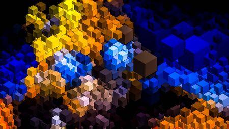 Digitally generated wallpaper , Digital art. Standard-Bild