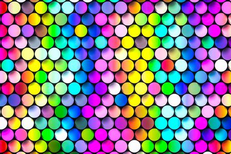 Multicolored Tables Putting in the raw they create hexagon texture.