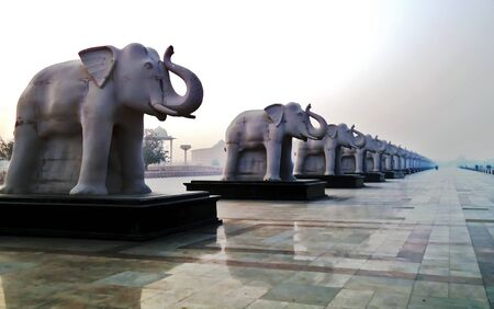 Statue Of Elephants In the Park, which dedicated Doctor Bhimrao Ambedkar, The symbol of Knowledge.