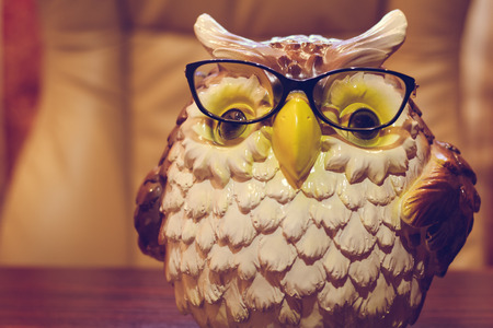 Statuette of an owl in glasses