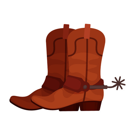 Pair of brown cowboy boots Vectores