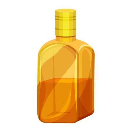 Vector illustration of a bottle of whiskey Ilustração