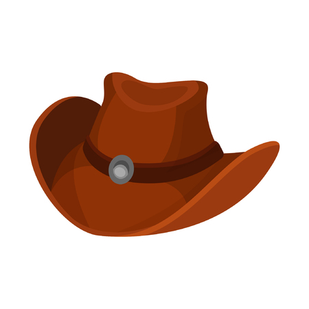 Vector illustration on a colorless background with a cowboy hat
