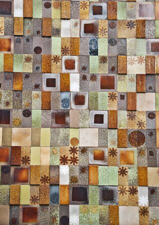 Glazed brick wall photo