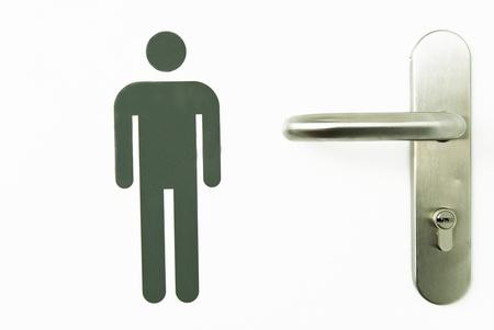 signal man on bathroom door Stock Photo - 9876106