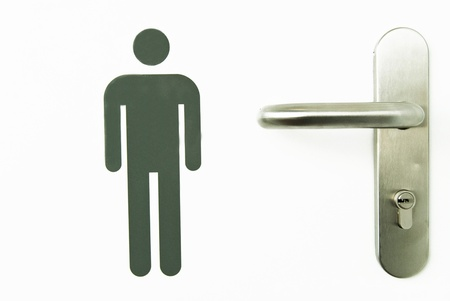signal man on bathroom door Stock Photo - 9876106