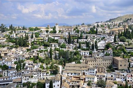 declared: Famous Albaicín in Granada, declared Patrimony of Humanity  Stock Photo