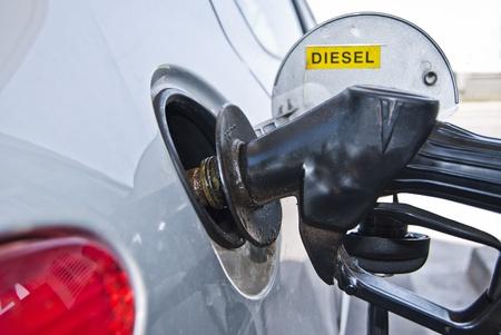 refueling: gasoline refueling  Stock Photo