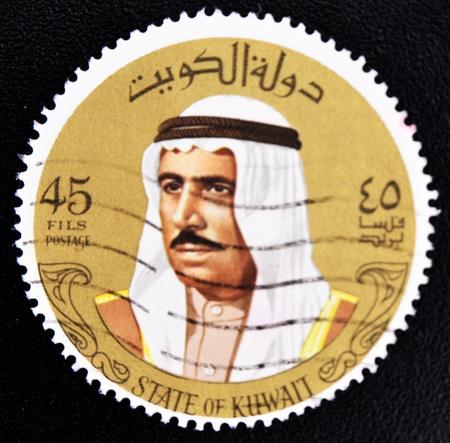 sheik: KUWAIT - CIRCA 1993: a stamp printed in Kuwait shows image of Sheik Sabah, circa 1974